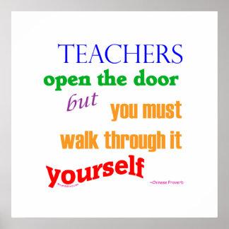 Teachers open the door posters