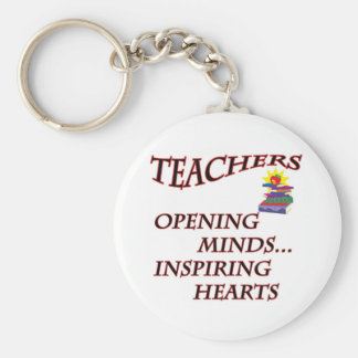 TEACHERS OPENING MINDS BASIC ROUND BUTTON KEY RING