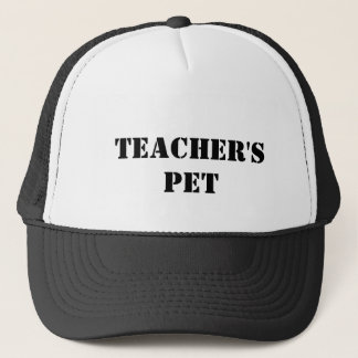 teacher's pet trucker hat