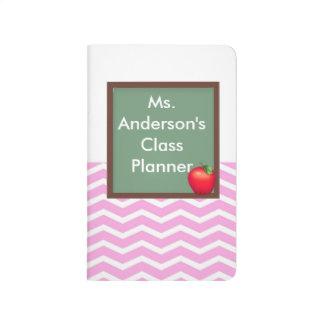 Teachers Pink Chevron Chalkboard Pocket Journal