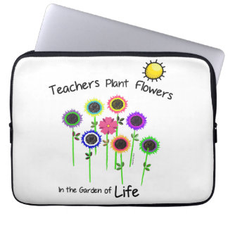 Teacher's Plant Flowers laptop sleeve