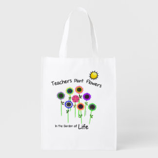 Teacher's Plant Flowers reusable bag
