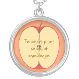 Teachers plant seeds of knowledge, apple necklaces