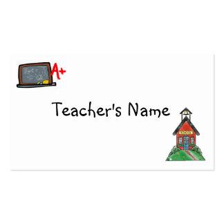 Teachers Profile Card Template Business Cards