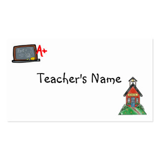 Teachers Profile Card Template Pack Of Standard Business Cards
