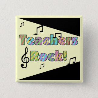 Teachers Rock Tshirts and Gifts 15 Cm Square Badge