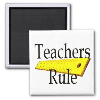 Teachers Rule Square Magnet