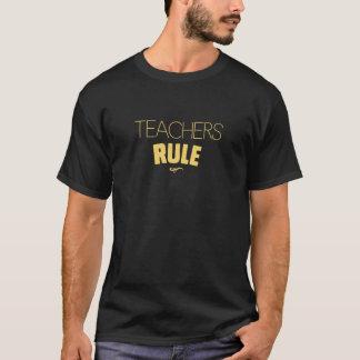 Teachers Rule – Yellow on Black T-Shirt