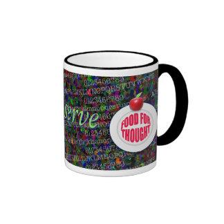 Teachers serve food for thought. ringer mug