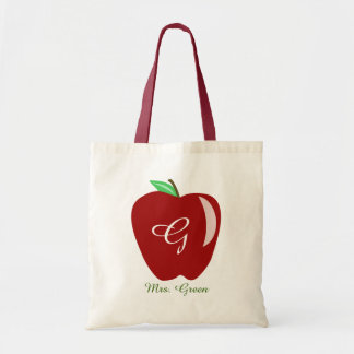 Teacher's Shiny Apple Budget Tote Bag