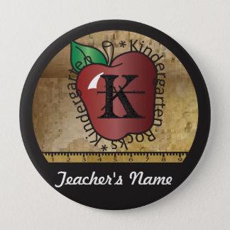 Teacher's Vintage Styled Kindergarten Button Pin