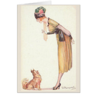 Teaching a Dog to Sit, Card