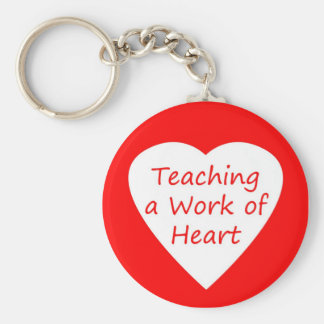 Teaching a Work of Heart Basic Round Button Key Ring