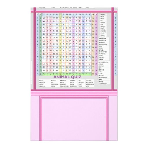 Teaching Aids : Learn Alphabets n Animal Names Personalized Stationery