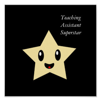 Teaching Assistant Superstar Poster