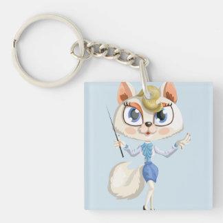 Teaching cat keychain