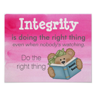 Teaching Integrity Poster