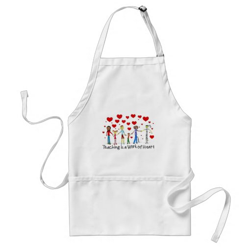 Teaching is a Work of Heart Apron