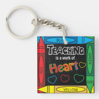Teaching is a work of heART Key Chain Acrylic Keychain