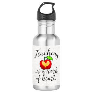 Teaching is a Work of Heart Teacher Appreciation 532 Ml Water Bottle