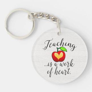 Teaching is a Work of Heart Teacher Appreciation Key Ring