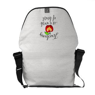 Teaching is a Work of Heart Teacher Appreciation Messenger Bag