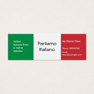 Teaching Italian Language -- Advertising Cards