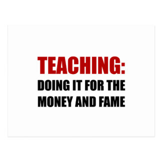Teaching Money Fame Postcard