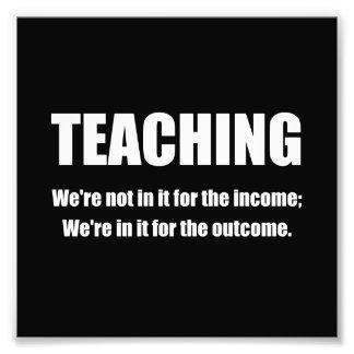 Teaching Outcome White.png Photo Print
