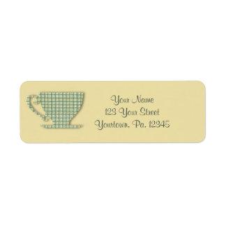 Teacup Address Label
