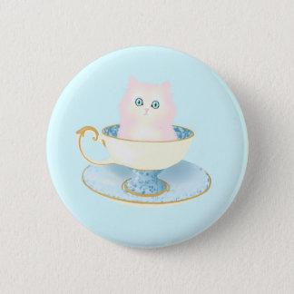 Teacup Kitten 6 Cm Round Badge