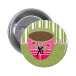 Teacup Monogram X Pin