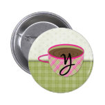 Teacup Monogram Y Buttons
