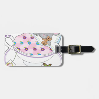 Teacup Mouse Luggage Tag