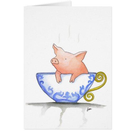 Teacup Pig Print Cards