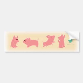 Teacup Piggies Bumper Sticker