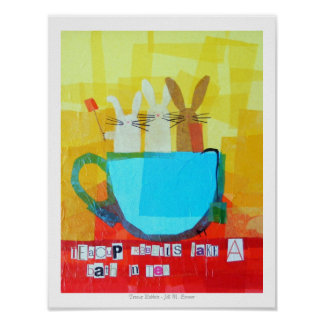 Teacup Rabbits Take a Bath in Tea! Poster