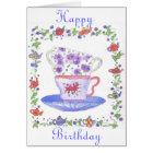 Teacup Stack Tea Time Birthday Card