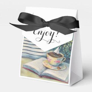 Teacup Tiny Favor Box - Pastel Black & White Wedding Favour Box