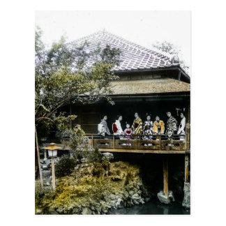 Teahouse Geisha of Old Japan Vintage Japanese Postcard