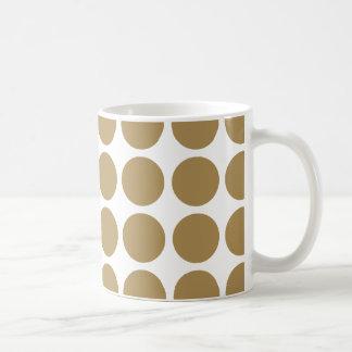 Teak Neutral Dots Coffee Mugs