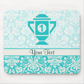 Teal 1st Place Trophy Mouse Pad
