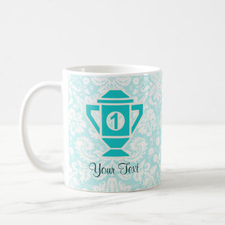 Teal 1st Place Trophy Coffee Mugs