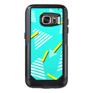 Teal 90s-Inspired-Design Phone Case