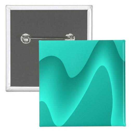 Teal Abstract Design Image. Pinback Button