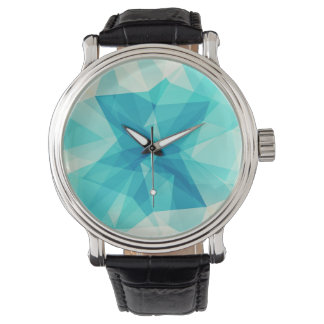 Teal Abstract Design Watch