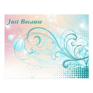 Teal Abstract Postcard