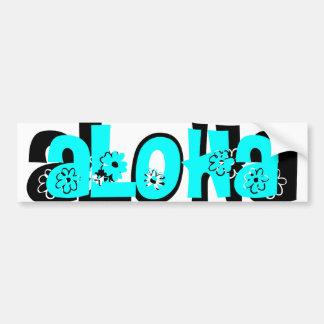 teal aloha bumper sticker