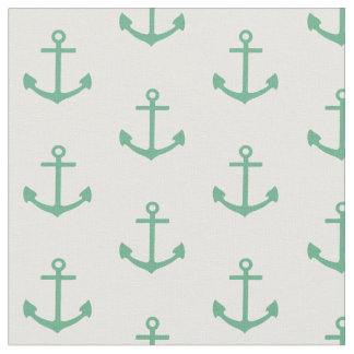 teal anchor pattern, nautical fabric