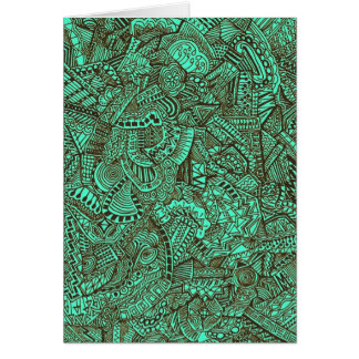 Teal and Black Card